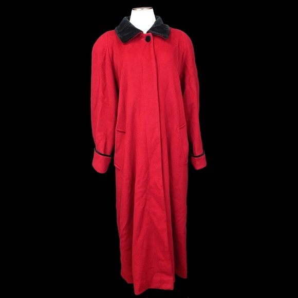 Vintage Jackets & Blazers - Vintage Forecaster of Boston Red Wool & Black Coat